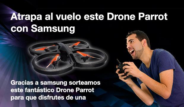 ATRAPA AL VUELO EL DRON GRACIAS A SAMSUNG