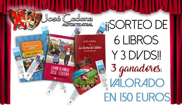 ¡¡CONSIGUE 6 LIBROS Y 3 DVDs DE JOSE CEDENA!!