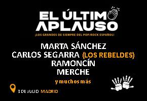 4 ENTRADAS VIP PARA EL ULTIMO APLAUSO EN MADRID